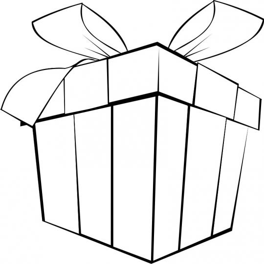 Regalo de Navidad - Dibujo navideño para colorear