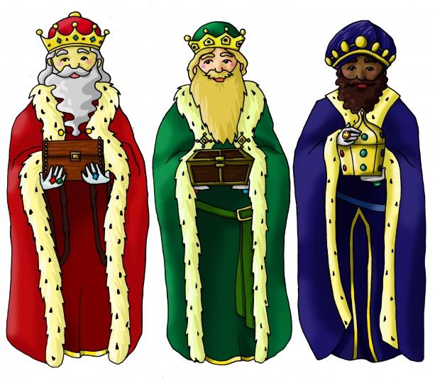 Reyes Magos de Oriente - Dibujo de los reyes magos