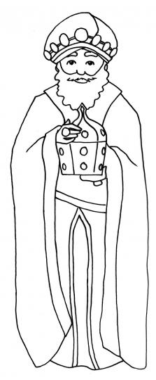 Rey Baltasar  Dibujo de los reyes magos para colorear